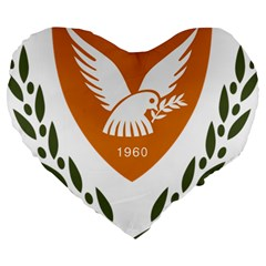 Coat Of Arms Of Cyprus Large 19  Premium Heart Shape Cushions by abbeyz71