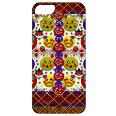 Smile And The Whole World Smiles  On Apple Iphone 5 Classic Hardshell Case by pepitasart