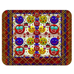 Smile And The Whole World Smiles  On Double Sided Flano Blanket (medium)  by pepitasart
