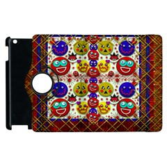 Smile And The Whole World Smiles  On Apple Ipad 3/4 Flip 360 Case by pepitasart