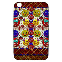 Smile And The Whole World Smiles  On Samsung Galaxy Tab 3 (8 ) T3100 Hardshell Case  by pepitasart