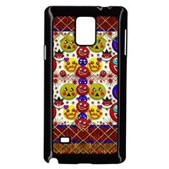 Smile And The Whole World Smiles  On Samsung Galaxy Note 4 Case (black)