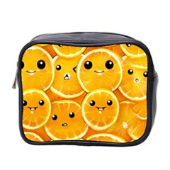 Cute Orange  Mini Toiletries Bag 2 Side by Brittlevirginclothing