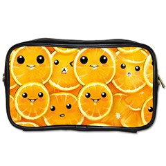 Cute Orange  Toiletries Bags 2 Side by Brittlevirginclothing