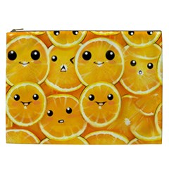 Cute Orange  Cosmetic Bag (xxl)  by Brittlevirginclothing