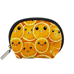 Cute Orange  Accessory Pouches (small)  by Brittlevirginclothing
