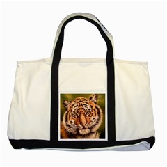 Tiger Cub Two Tone Tote Bag by ArtByThree