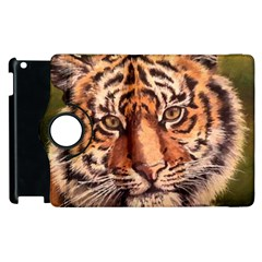 Tiger Cub Apple Ipad 3/4 Flip 360 Case by ArtByThree