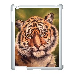 Tiger Cub Apple Ipad 3/4 Case (white) by ArtByThree