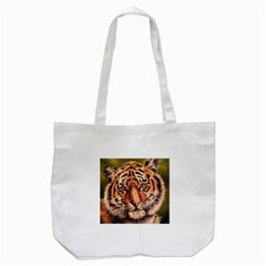 Tiger Cub Tote Bag (white) by ArtByThree