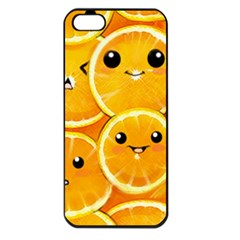 Cute Orange  Apple Iphone 5 Seamless Case (black) by Brittlevirginclothing