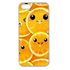 Cute Orange  Apple Seamless Iphone 5 Case (clear) by Brittlevirginclothing