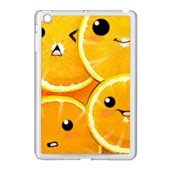 Cute Orange  Apple Ipad Mini Case (white) by Brittlevirginclothing