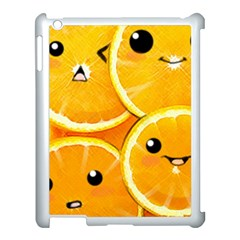 Cute Orange  Apple Ipad 3/4 Case (white) by Brittlevirginclothing