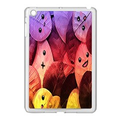 Cute Leaves  Apple Ipad Mini Case (white) by Brittlevirginclothing