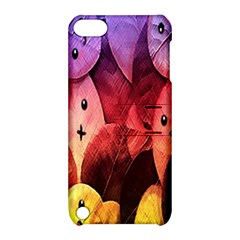 Cute Leaves  Apple Ipod Touch 5 Hardshell Case With Stand by Brittlevirginclothing