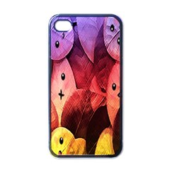Cute Leaves Apple Iphone 4 Case (black) by Brittlevirginclothing