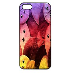 Cute Leaves Apple Iphone 5 Seamless Case (black) by Brittlevirginclothing