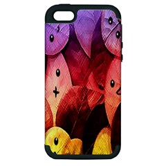 Cute Leaves Apple Iphone 5 Hardshell Case (pc+silicone) by Brittlevirginclothing