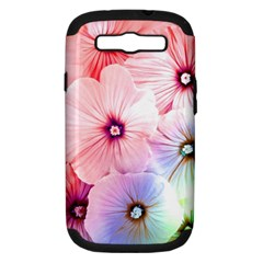 Rainbow Flower Samsung Galaxy S Iii Hardshell Case (pc+silicone) by Brittlevirginclothing