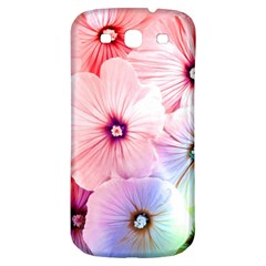 Rainbow Flower Samsung Galaxy S3 S Iii Classic Hardshell Back Case by Brittlevirginclothing