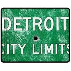 Detroit City Limits Double Sided Fleece Blanket (medium)  by DetroitCityLimits
