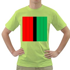 Kwanzaa Colors African American Red Black Green  Green T Shirt by yoursparklingshop