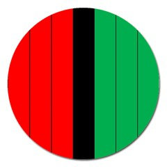 Kwanzaa Colors African American Red Black Green  Magnet 5  (round) by yoursparklingshop