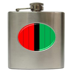 Kwanzaa Colors African American Red Black Green  Hip Flask (6 Oz) by yoursparklingshop