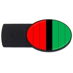 Kwanzaa Colors African American Red Black Green  Usb Flash Drive Oval (2 Gb)  by yoursparklingshop