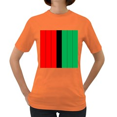 Kwanzaa Colors African American Red Black Green  Women s Dark T Shirt by yoursparklingshop