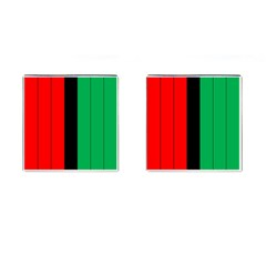 Kwanzaa Colors African American Red Black Green  Cufflinks (square) by yoursparklingshop