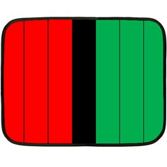 Kwanzaa Colors African American Red Black Green  Double Sided Fleece Blanket (mini)  by yoursparklingshop