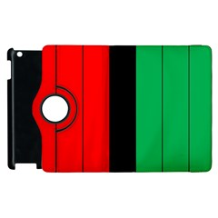 Kwanzaa Colors African American Red Black Green  Apple Ipad 3/4 Flip 360 Case by yoursparklingshop