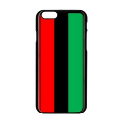 Kwanzaa Colors African American Red Black Green  Apple Iphone 6/6s Black Enamel Case by yoursparklingshop