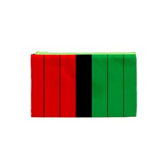 Kwanzaa Colors African American Red Black Green  Cosmetic Bag (xs) by yoursparklingshop