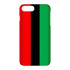 Kwanzaa Colors African American Red Black Green  Apple Iphone 7 Plus Hardshell Case by yoursparklingshop