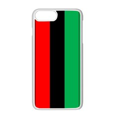 Kwanzaa Colors African American Red Black Green  Apple Iphone 7 Plus White Seamless Case by yoursparklingshop