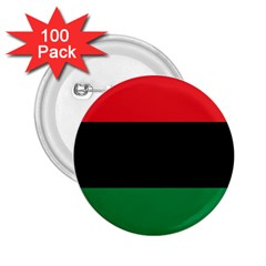 Pan African Unia Flag Colors Red Black Green Horizontal Stripes 2 25  Buttons (100 Pack)  by yoursparklingshop