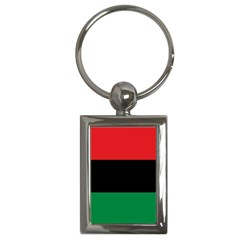 Pan African Unia Flag Colors Red Black Green Horizontal Stripes Key Chains (rectangle)  by yoursparklingshop