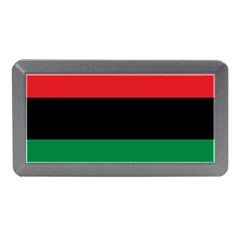 Pan African Unia Flag Colors Red Black Green Horizontal Stripes Memory Card Reader (mini) by yoursparklingshop