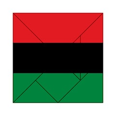 Pan African Unia Flag Colors Red Black Green Horizontal Stripes Acrylic Tangram Puzzle (6  X 6 ) by yoursparklingshop