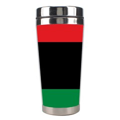 Pan African Unia Flag Colors Red Black Green Horizontal Stripes Stainless Steel Travel Tumblers by yoursparklingshop