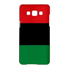 Pan African Unia Flag Colors Red Black Green Horizontal Stripes Samsung Galaxy A5 Hardshell Case  by yoursparklingshop