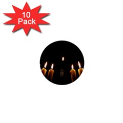 Hanukkah Chanukah Menorah Candles Candlelight Jewish Festival Of Lights 1  Mini Buttons (10 Pack)  by yoursparklingshop