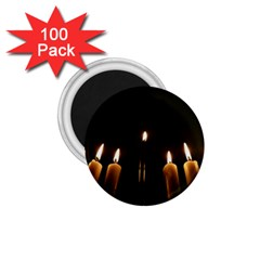 Hanukkah Chanukah Menorah Candles Candlelight Jewish Festival Of Lights 1 75  Magnets (100 Pack)  by yoursparklingshop