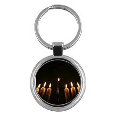 Hanukkah Chanukah Menorah Candles Candlelight Jewish Festival Of Lights Key Chains (round)  by yoursparklingshop