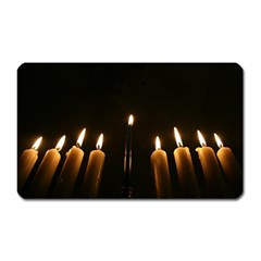 Hanukkah Chanukah Menorah Candles Candlelight Jewish Festival Of Lights Magnet (rectangular) by yoursparklingshop