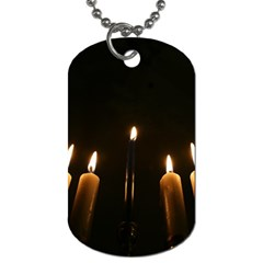 Hanukkah Chanukah Menorah Candles Candlelight Jewish Festival Of Lights Dog Tag (two Sides) by yoursparklingshop