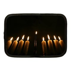 Hanukkah Chanukah Menorah Candles Candlelight Jewish Festival Of Lights Netbook Case (medium)  by yoursparklingshop
